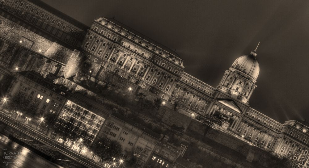 Photo in Architecture #castle #building #architectural #photo #canon #hdr #night #long-expo #budapest #bp #hu #hun #hungary #city life