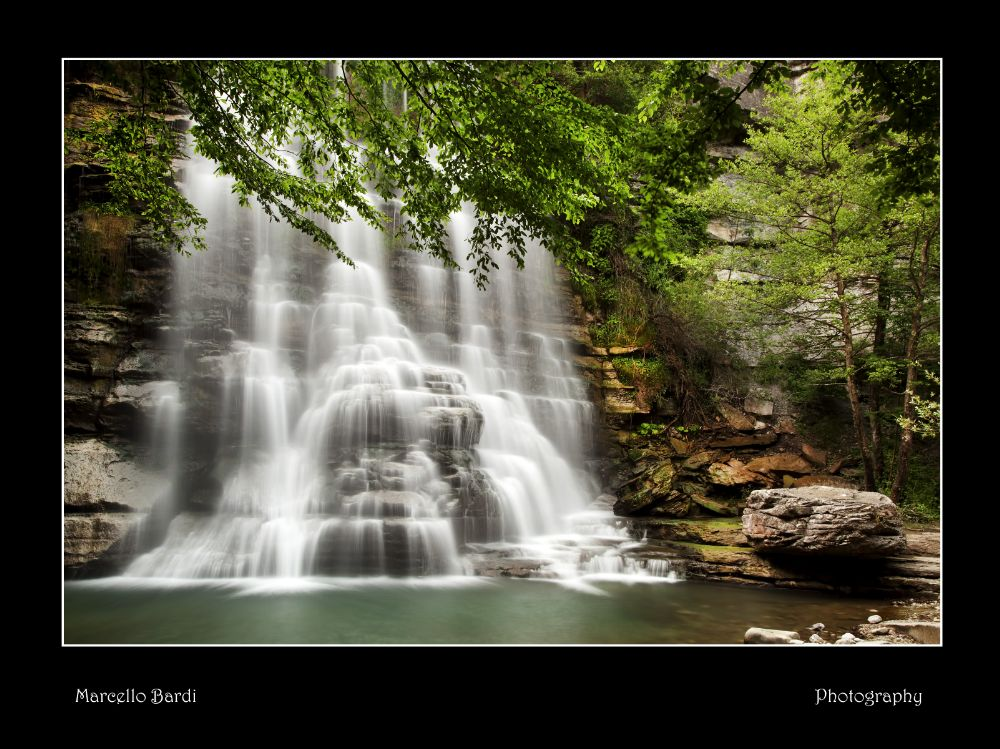 Photo in Landscape #nature #landscape #waterfall #panorama #river #light #marcello-bardi #italy #canon #filters #woods #trees #painting #picture #fine art #stones #water