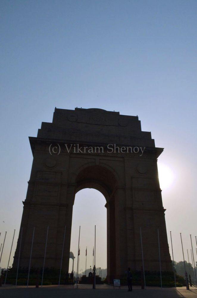 Photo in Architecture #india gate #delhi #silhouette