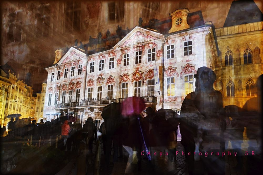 Photo in Abstract #prague #signal #festival #light on the night.