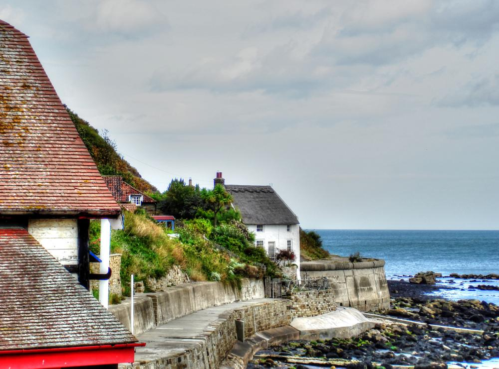 Photo in Sea and Sand #cottage #coast #thatched #seaside #sea #sand