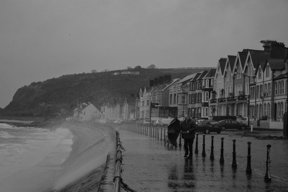 Photo in Black and White #waves #storm #bad weather