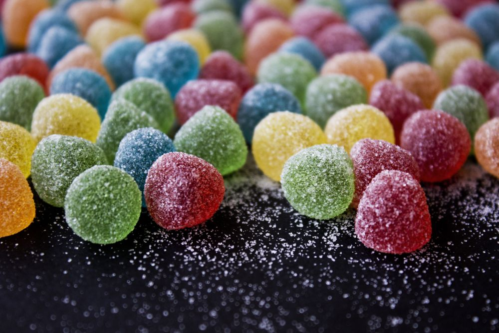 Photo in Food #candy #sugar #colours #sweet #red #yellow #blue #green #orange #black