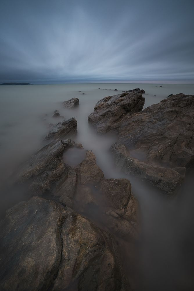 Photo in Sea and Sand #ireland #portmarnock #long exposure #nikon #d750 #heliopan #nd3 #sea #seascape #clouds #movement