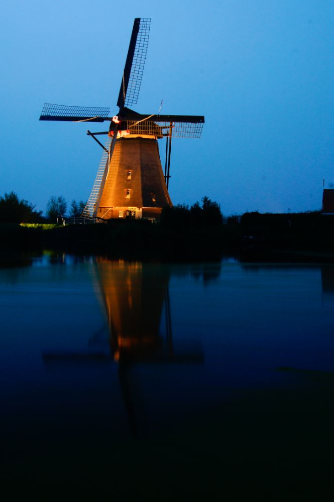 Photo in Landscape #windmill #long shuttertime #reflection