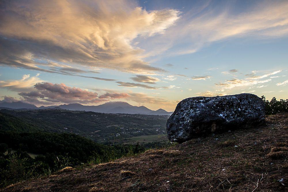 Photo in Landscape #rocca san felice #italy #stone #landscape #sky #clouds