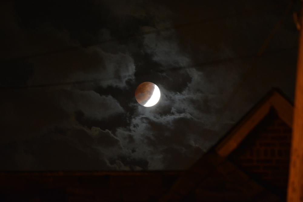 Photo in Astrophotography #moon eclips sky