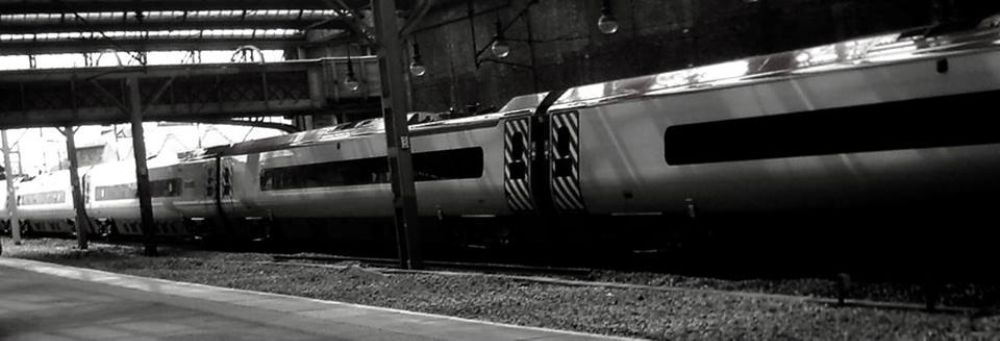 Photo in Black and White #trains #stoke on trent