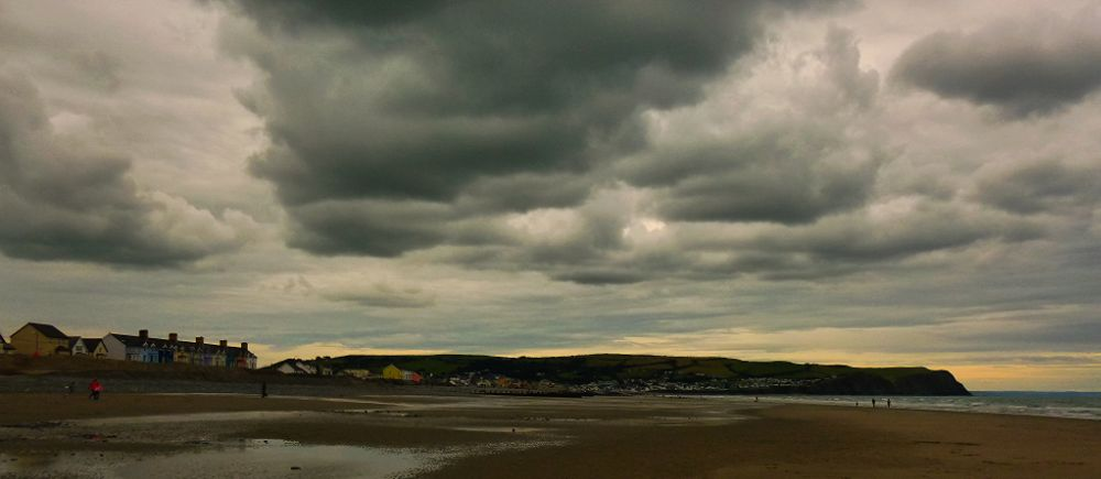 Photo in Sea and Sand #wales #sea #ceredigion #borth