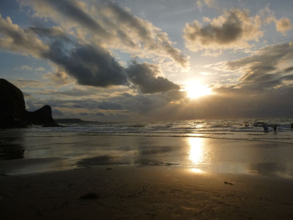 Photo in Sea and Sand #wales #sunset #sea #ceredigion