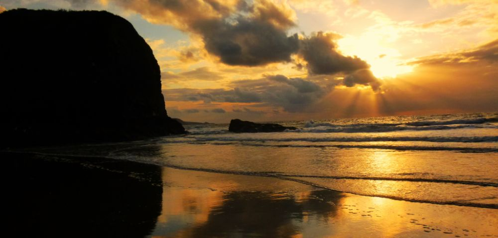 Photo in Sea and Sand #wales #sunset #ceredigion