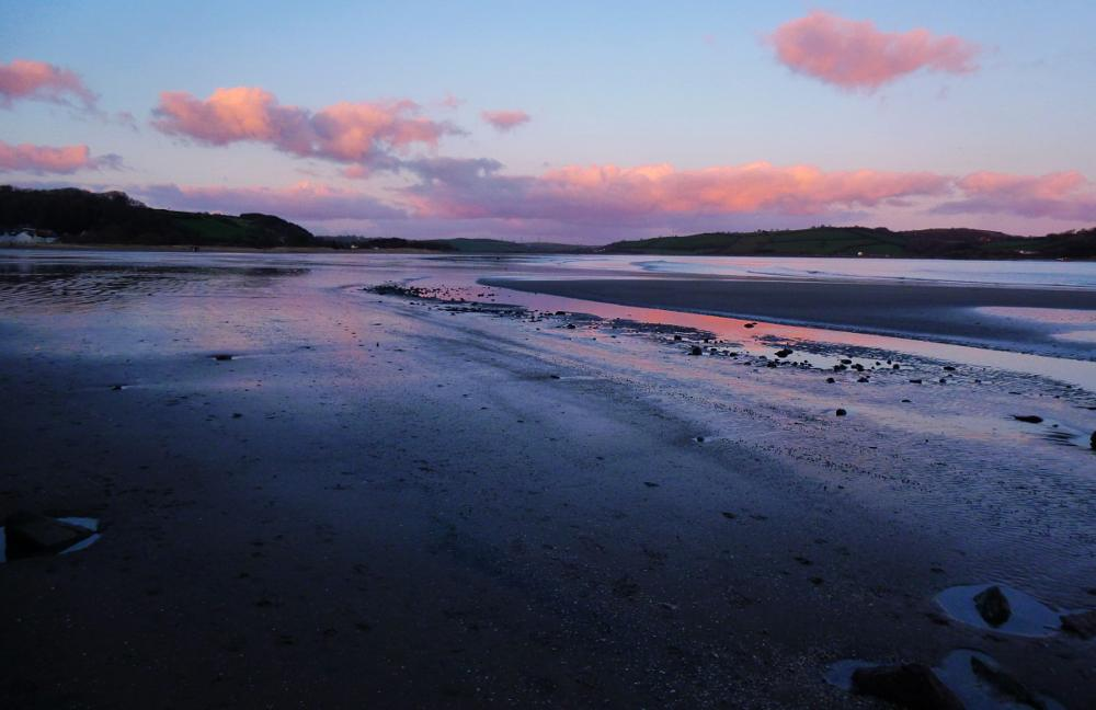 Photo in Sea and Sand #carmarthenshire #wales #sunset #sea