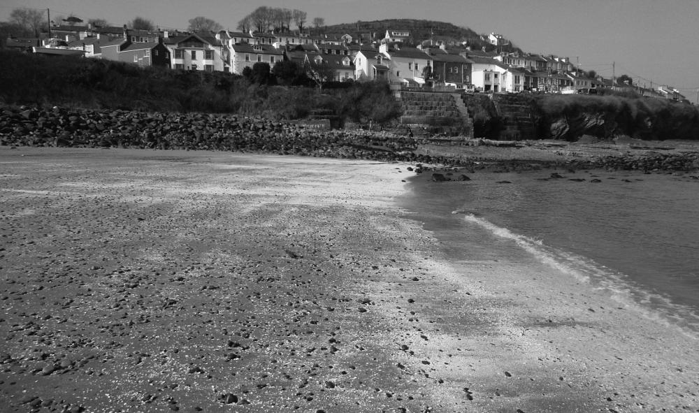 Photo in Black and White #wales #ceredigion #sea #beach