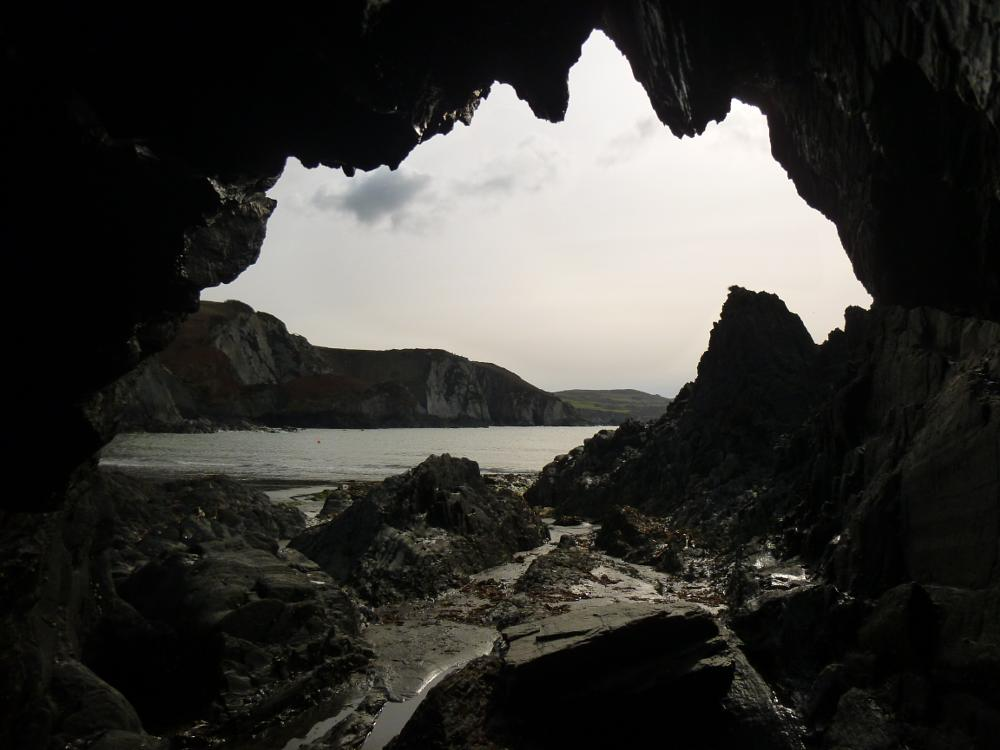Photo in Sea and Sand #wales #cave #sea #pembrokeshire