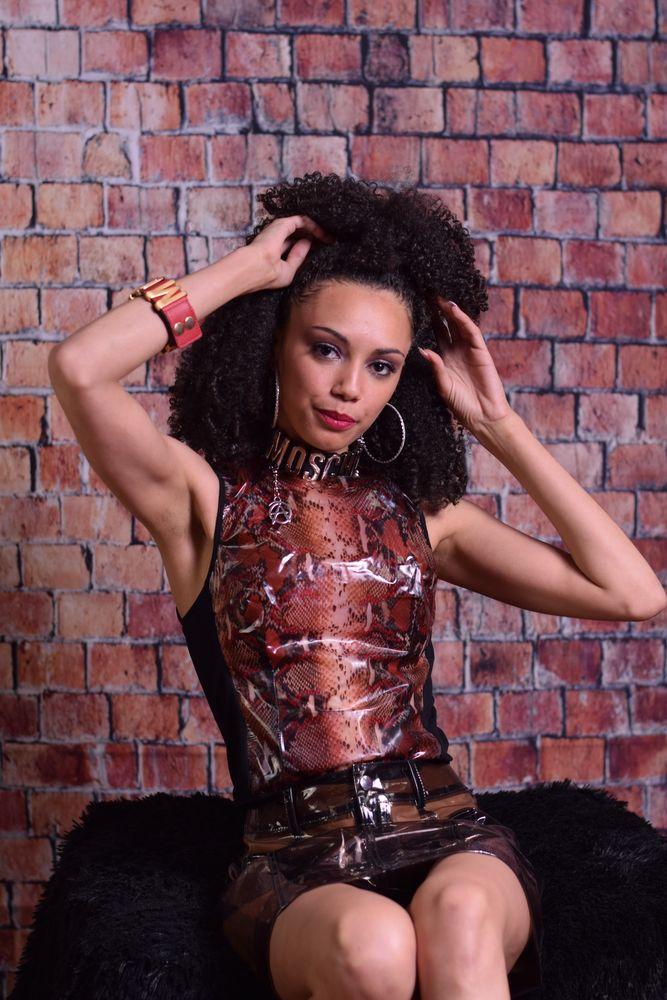 Photo in Random #model #female #goth #brick #vinyl