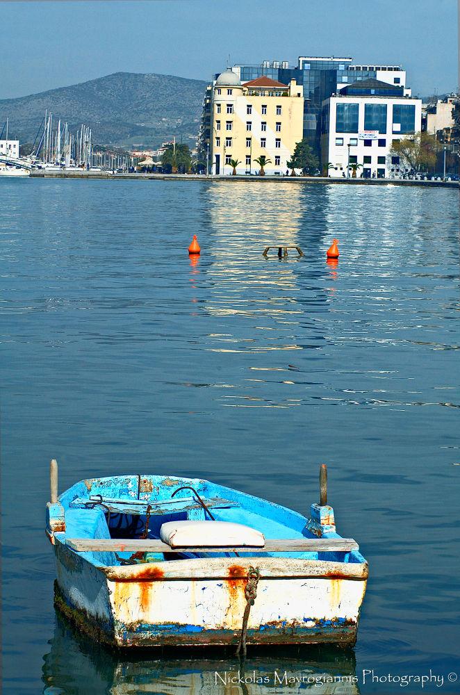 Photo in Random #port #boat #sea #blue