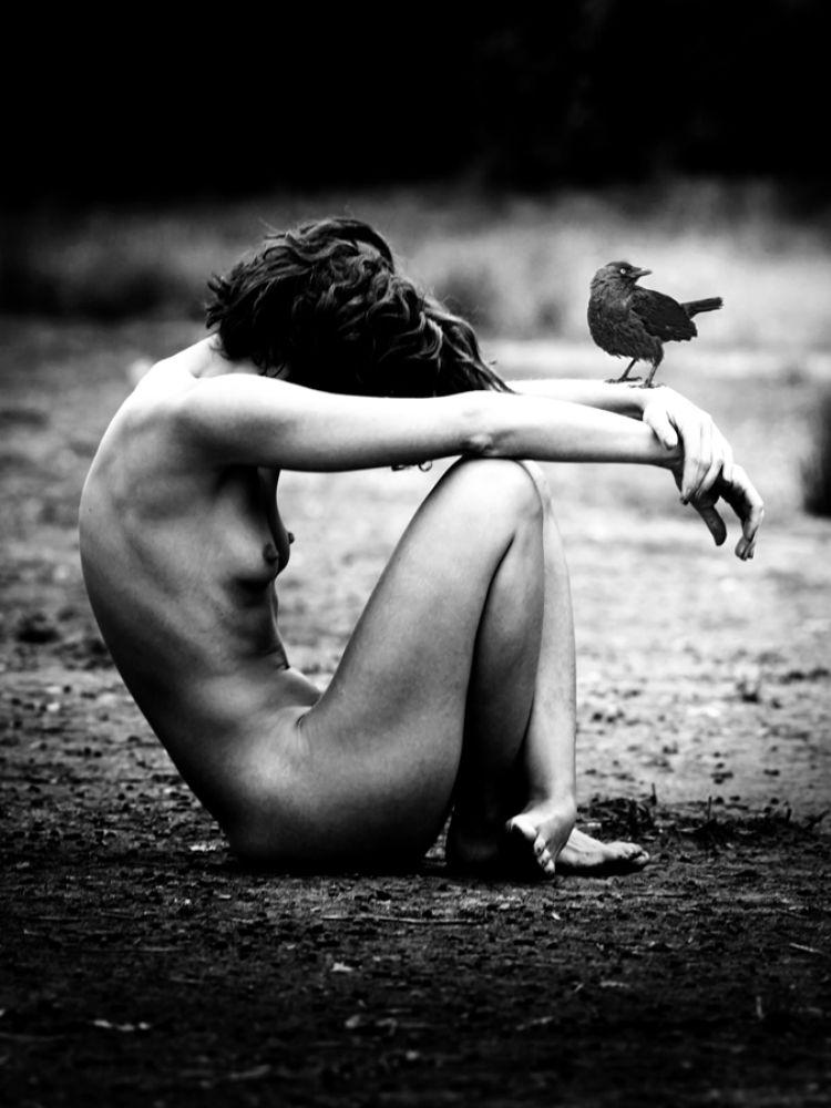 Photo in Nude #art #nude #bird #fine art #bw #expression #erotic