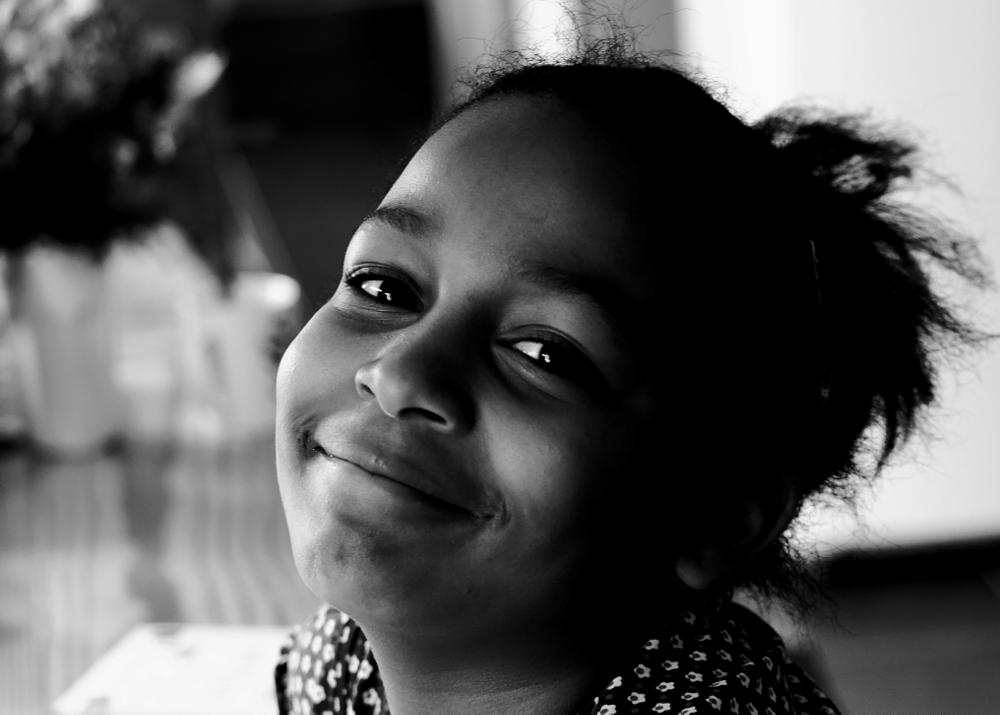 Photo in Black and White #little girl #b&w