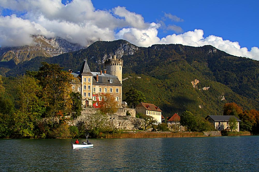 Photo in Random #alta savoia #france #annecy #lake #landscapes #autumn #fall #colors #nature #travel #places #castle