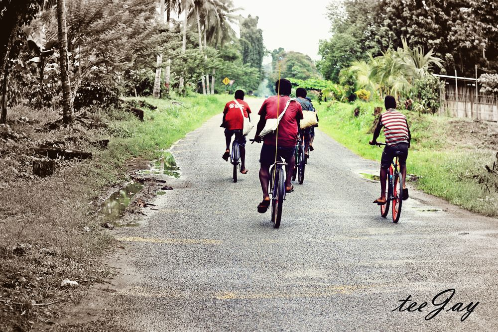 Photo in Random #bicycle #young boys #road