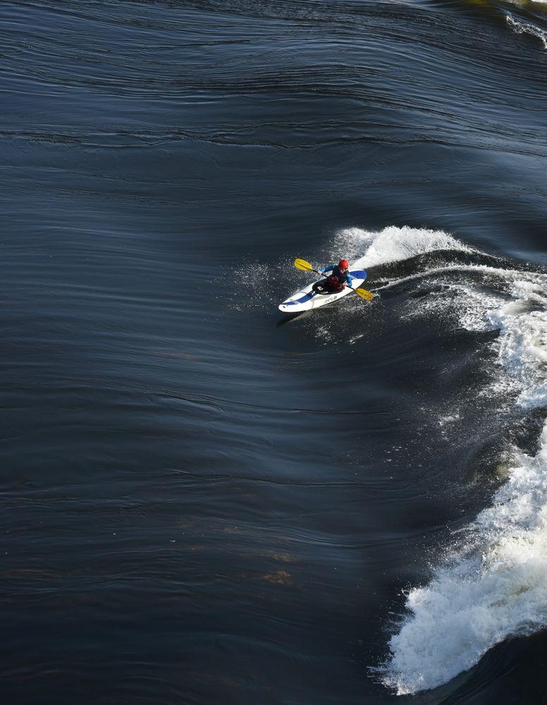 Photo in Sports #connel bridge #kayak