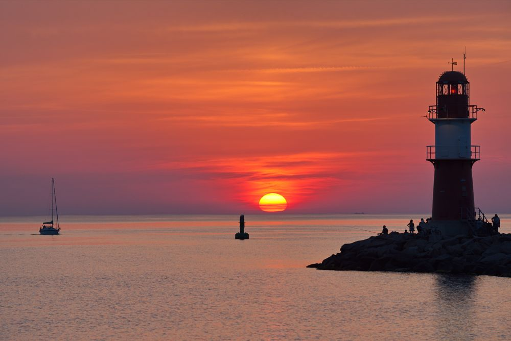Photo in Random #sonnenuntergang #sunset #warnemünde #ostseeliebe #ostsee