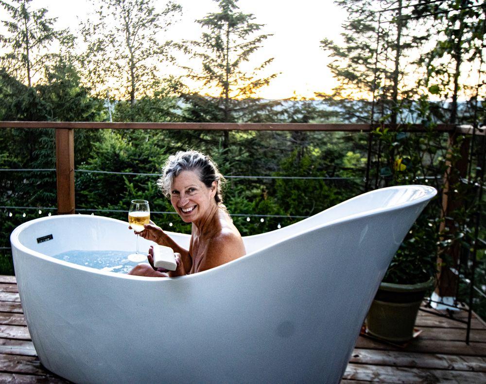 Photo in Nude #love #dinner #wine #bath #enjoylife