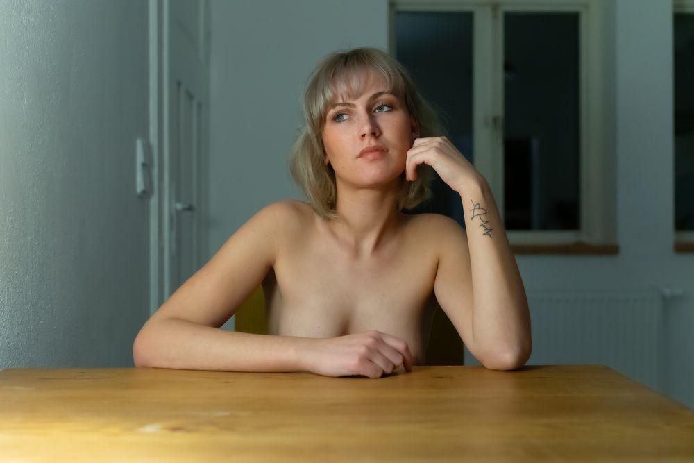 Photo in Portrait #portrait #nude portrait #nude #naked #sensual #girl #woman #female #indoor #homeshooting