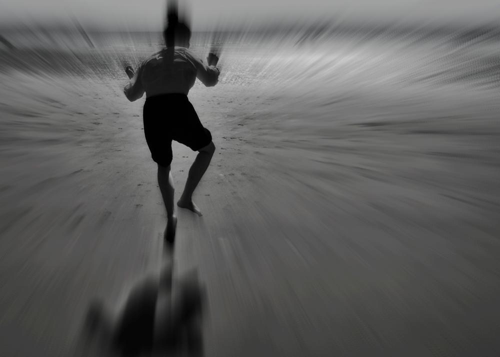 Photo in Black and White #jump #vortex #future #time travel #mono #black and white