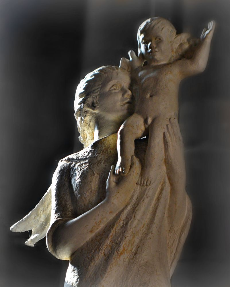 Photo in People #mother #child #statue #carlisle #cathedral