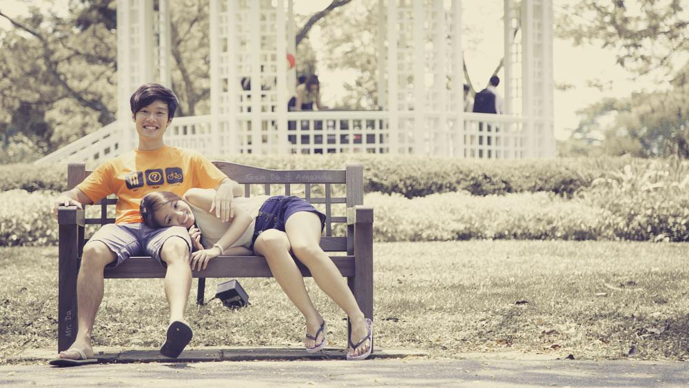 Photo in People #couple #park #garden #faded #love