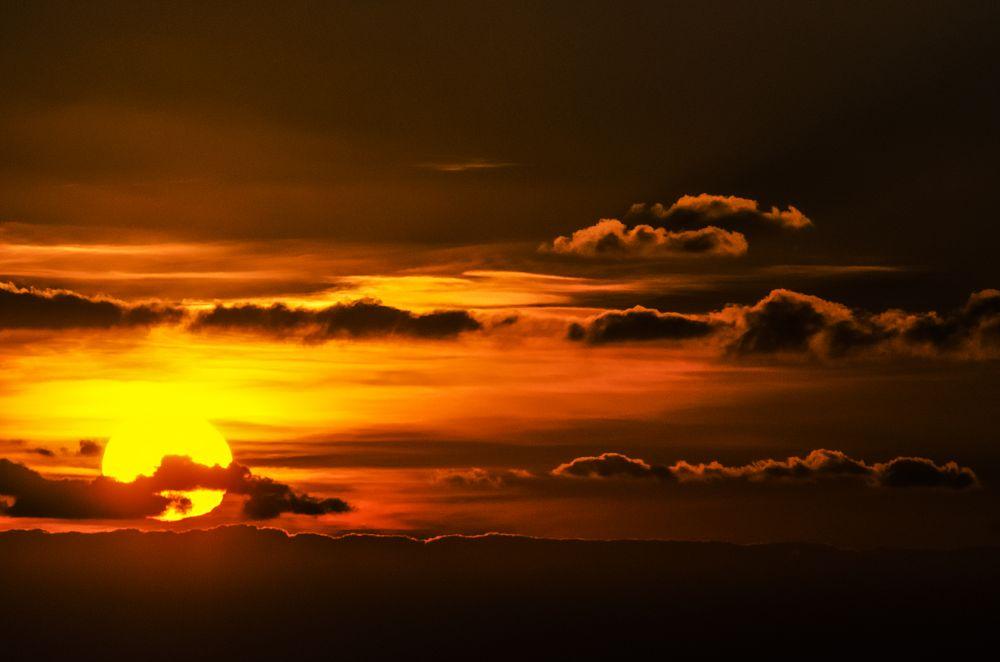 Photo in Nature #sun #sky #cloud #landscape #red #nature