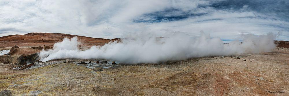 Photo in Random #volcano #geothermal #nature #landscape #fumaroles #earth