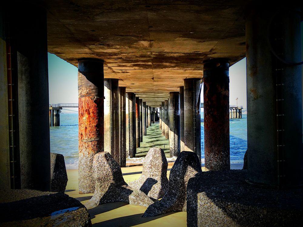 Photo in Travel #travel #beach #sand #rock #seashore #art #architecture #shadow #landscape #taiwan #water #dark #sunlight