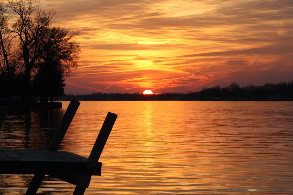 Photo in Sea and Sand #sunset #lake #buckeye lake #water #dock