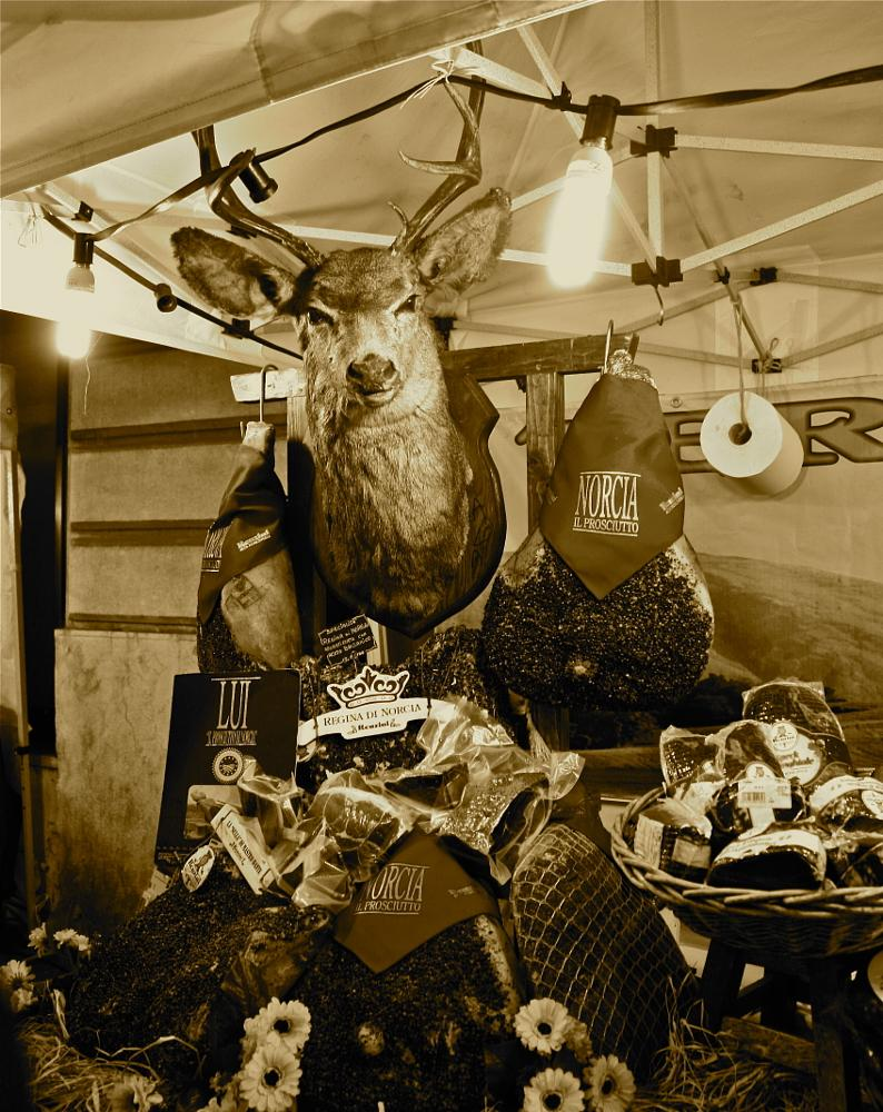 Photo in Food #buck #deer #meat #market #festival #vicenza #italy