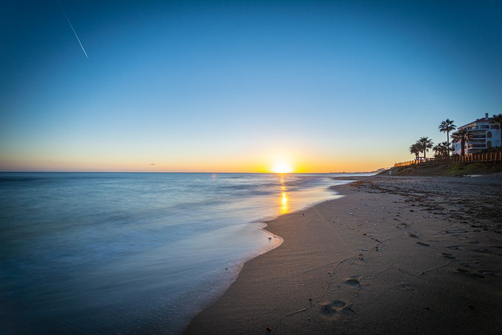 Photo in Sea and Sand #long exposure #sunset #sea #seascape
