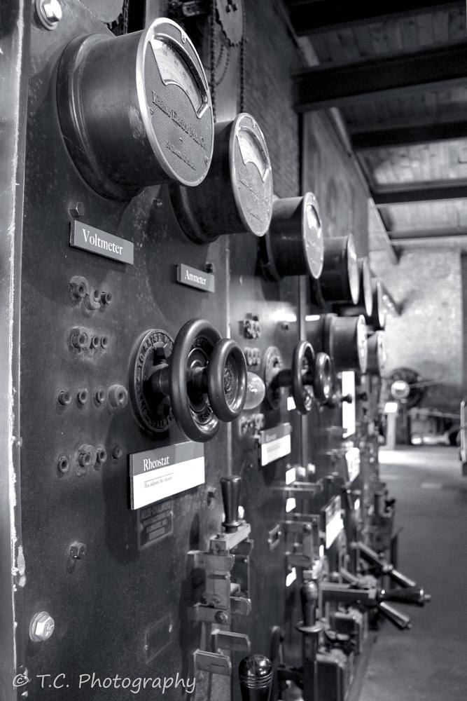 Photo in Industrial #history museum mill #steampunk #n.h. #new hampshire #u.s.a. #new england #industrial #black and white #northeast