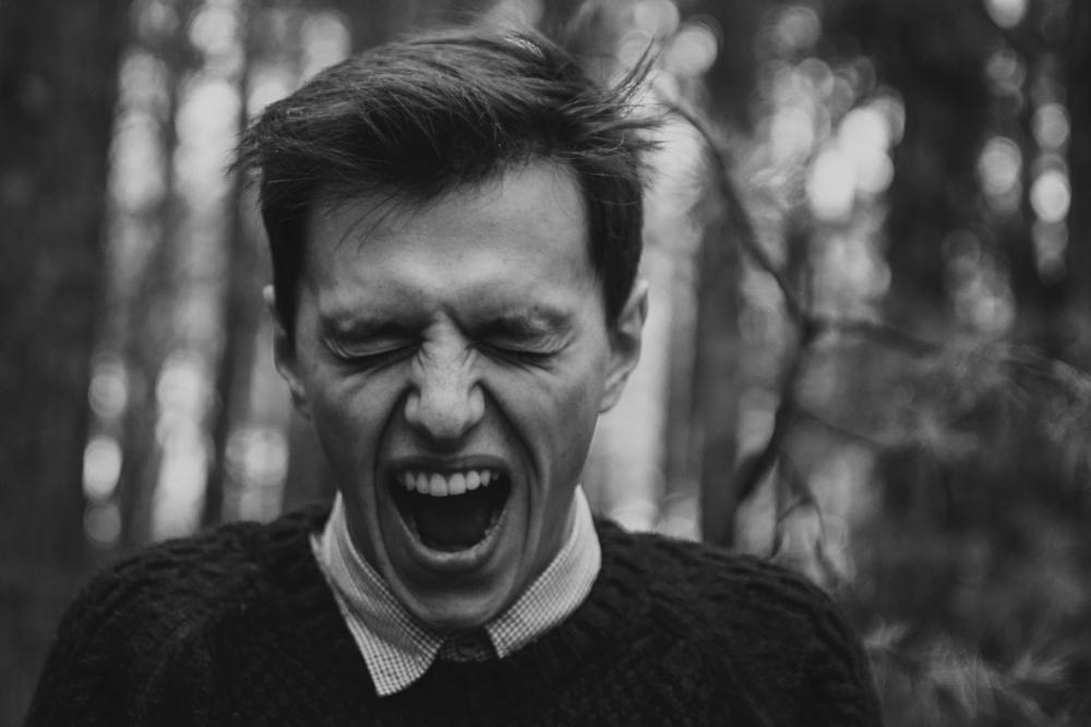 Photo in Portrait #black #white #scream