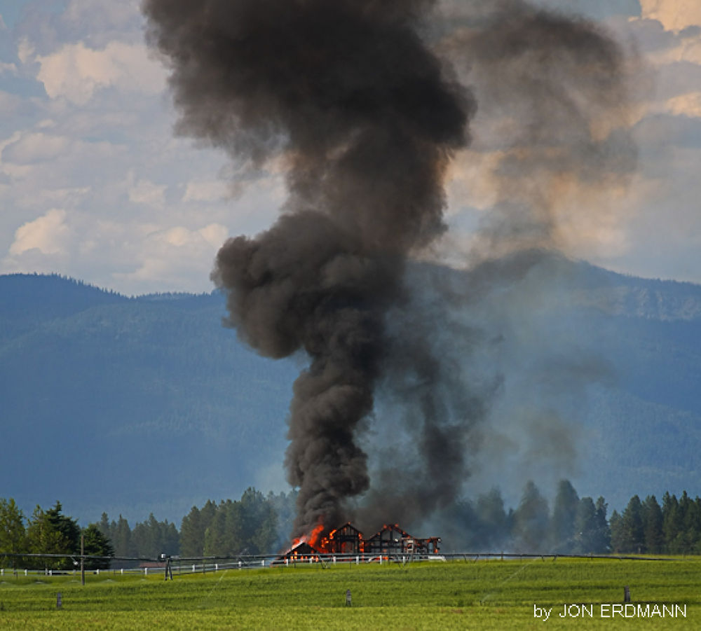 Photo in Architecture #kalispell #flathead county #fire