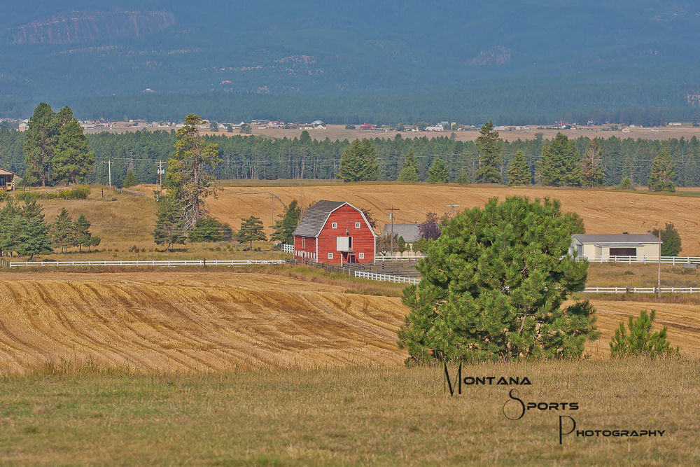 Photo in Landscape #montana #flathead valley #landscape #barns