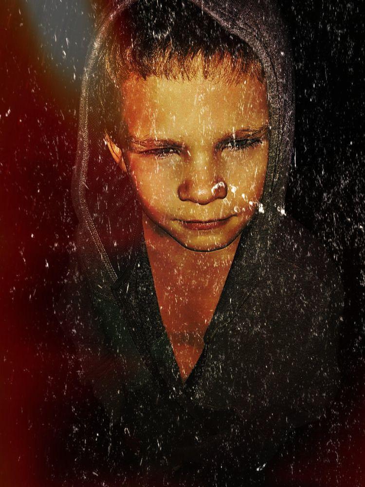Photo in Random #digital photography #child #boy #red #gray #boxer