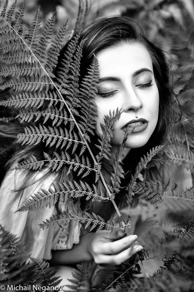 Photo in Portrait #krkonose #portret #forest #fern #@zlyhobit