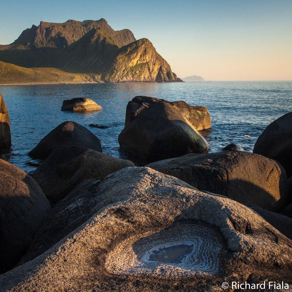 Photo in Landscape #arctic #mountain #sea #sun #midnightsun
