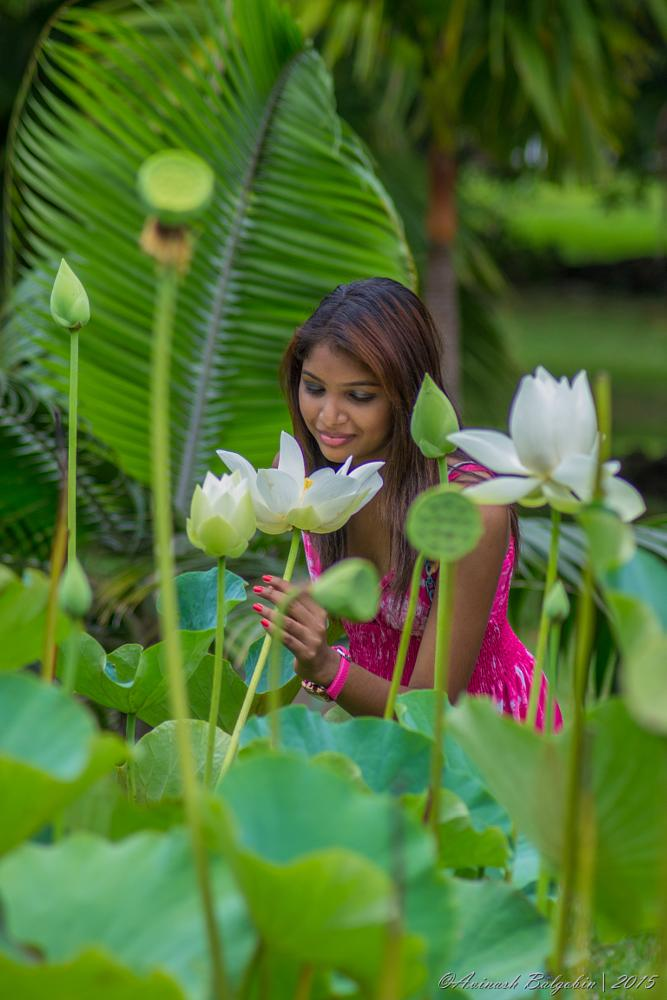 Photo in People #mauritius #summer #shoot #photoshoot #yashna #2015 #youpic #photos #photography_trials #photographytrials2015 #photoenthusiast #nikon #nikon3100 #nikontop #lightroom #50mm #pamplemousses_garden #lotusflowers #lake #serenity #portrait #colors #amateurphotographer