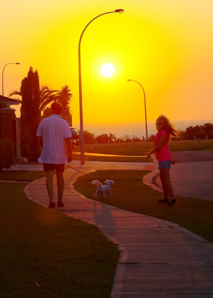 Photo in People #sunset #people #nature