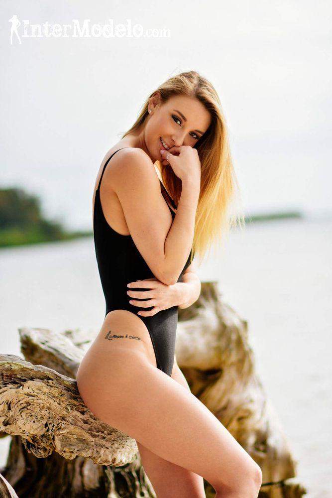 Photo in Portrait #beach #model #beauty #glamour #blonde #swimwear #tampa