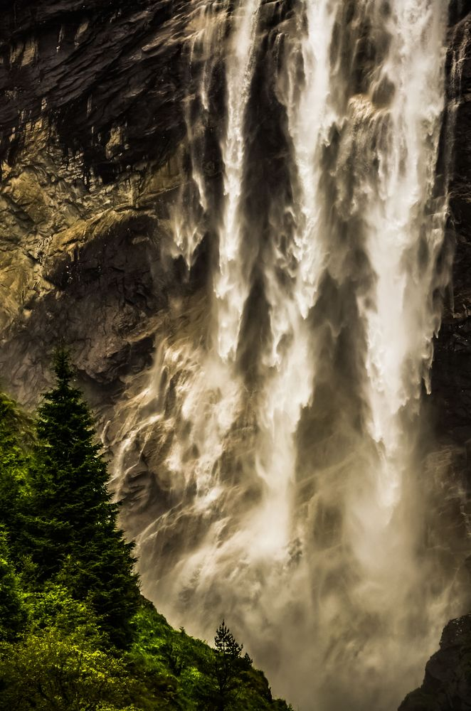 Photo in Travel #waterfall #fjord #norway #water #light #power