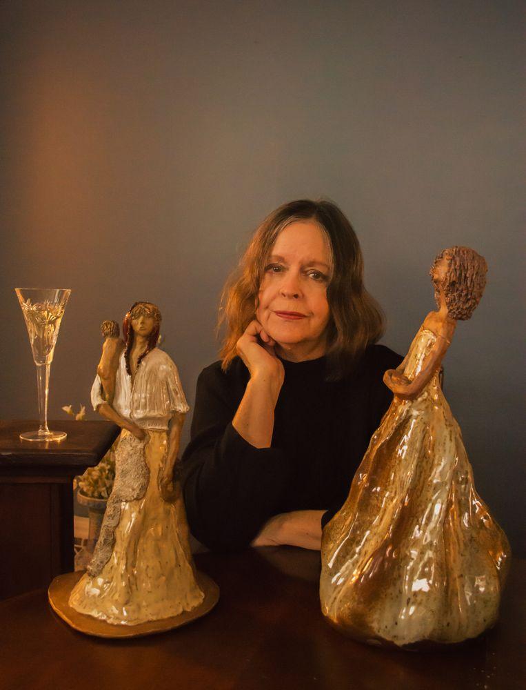 Photo in Portrait with model   #pottery #ceramics #artist #figurines #sculptors