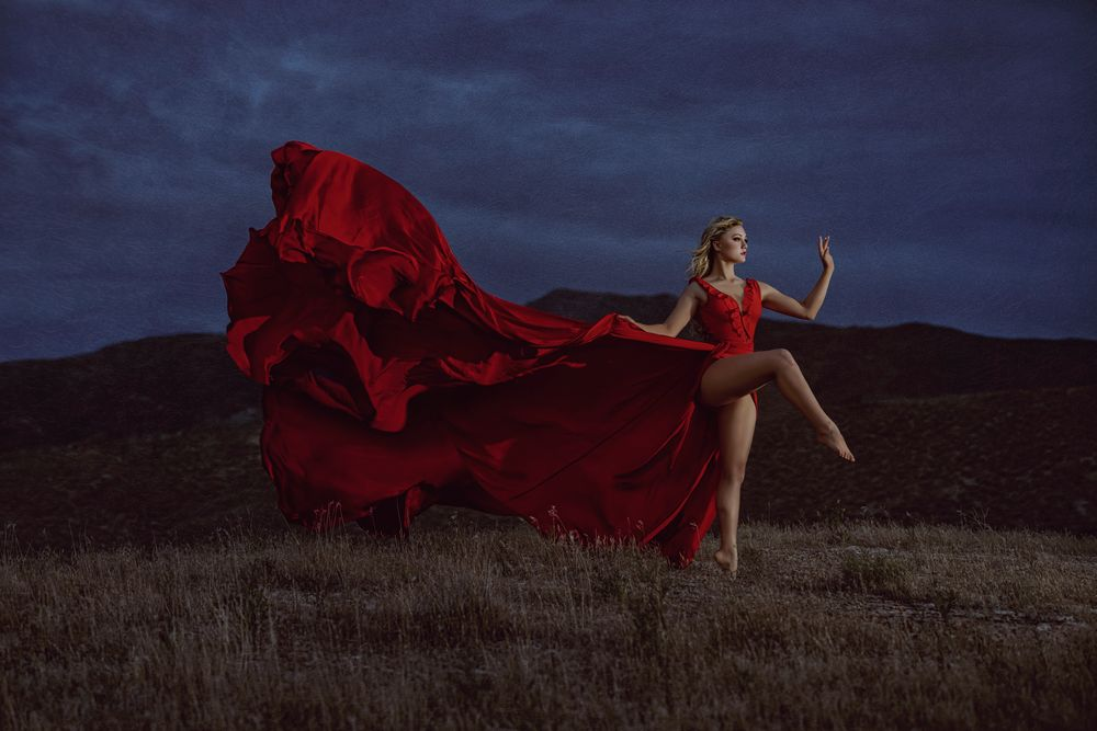 Photo in Sports #dance #dance photographer #utah photographer #utah photography #utah dance photographer #red dress #forevermore films